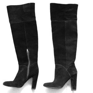 ALDO - Over The Knee Boots, Black Suede (7.5)